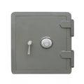 Gray combination safe isolated. Royalty Free Stock Photo