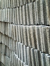 Gray concrete brick block Stock Image