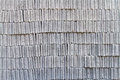 Gray concrete construction block wall background of stack pattern Stock Photography