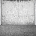 Gray concrete fence and asphalt Stock Photo