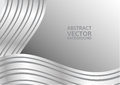 Gray curve abstract vector background with copy space