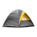 Gray dome tent Royalty Free Stock Photo
