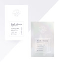Gray double-sided business card with crystal logo