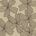 Gray flower pattern background Stock Image