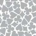 Gray gamble wallpaper seamless poker card suit pattern Stock Photos