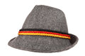 Gray hat with color stripes Stock Images