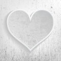 Gray heart memories white with depth carved in Royalty Free Stock Image