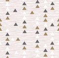 Gray hipster geometrical seamless vector pattern. Royalty Free Stock Photo