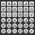 Gray icons set business finance illustration format eps Stock Images