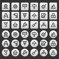 Gray icons set repair construction illustration format eps Royalty Free Stock Photos