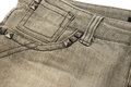 Gray jeans pocket closeup picture Royalty Free Stock Images
