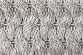 Gray Knitting or Knitted Fabric Texture Pattern Background Close Royalty Free Stock Photo
