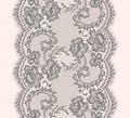Gray Lace Ribbon Vertical Seamless Pattern. Royalty Free Stock Photo
