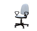 The gray office chair isolated over white Royalty Free Stock Photos