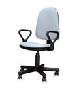 The gray office chair isolated over white Stock Images