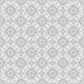 Gray ornate pattern. Seamless vector