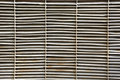 Gray painted rusty steel blades air ventilation protection grill Royalty Free Stock Photo