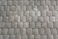 Gray paving slabs patterned tiles of olf sreet square Stock Photo