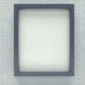 Gray picture frame for portrait or text on brick wall Stock Photography