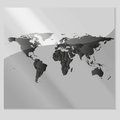Gray political world map vector Royalty-vrije Stock Afbeeldingen