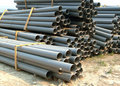 Gray PVC pipes Royalty Free Stock Images