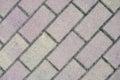 Gray rectangular paving slabs close up Royalty Free Stock Photos