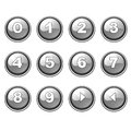 Gray round internet button collection Royalty Free Stock Photo