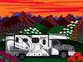 Gray rv spring summer background Royalty Free Stock Image