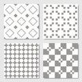 Gray Seamless Geometric Patterns