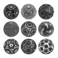 Gray and silver sphere collection Royalty Free Stock Photo