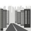 Gray skyscrapers illustration with for your design Stock Photos