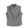 Gray sleeveless blouse Stock Images