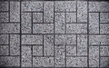 Gray Square Paved with Small Square Corners and Gray Rectangles. Seamless Tileable Texture Royalty Free Stock Photo