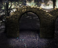 Gray stone arch dark background Royalty Free Stock Photos