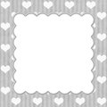Gray stripes and white hearts background for in love Stock Photo