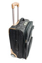 Gray suitcase for travel with combination lock isolate on white background Royalty Free Stock Photo
