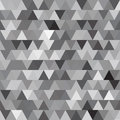 Gray vector seamless pattern with triangles abstract background monochrome texture Royalty Free Stock Photo