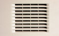 Gray ventilation grille Royalty Free Stock Photography