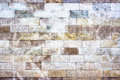 The gray wall of stone blocks, brick light texture as background Royalty Free Stock Photo