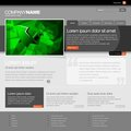 Gray Website Template Stock Photography