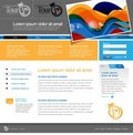 Gray Website Template Royalty Free Stock Photos