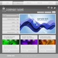 Gray Website Template 960 Grid. Royalty Free Stock Photo