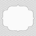 Gray and white chevron zigzag frame background with center for copy space classic Royalty Free Stock Photography