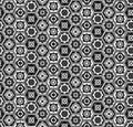 Gray and white hexagons pattern