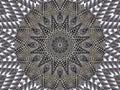 Gray white kaleidoscope pattern abstract background. Circle pattern. Abstract fractal kaleidoscope background. Abstract fractal pa Royalty Free Stock Photo