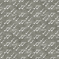 Gray and White Music Symbol Tile Pattern Repeat Background