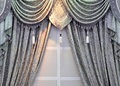 Gray window curtain Royalty Free Stock Photos