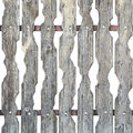 Gray Wooden Ornate Fence On Wh...