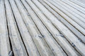 Gray wooden outdoor terrace floor as background Royalty Free Stock Image