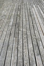 Gray wooden terrace floor Royalty Free Stock Photos